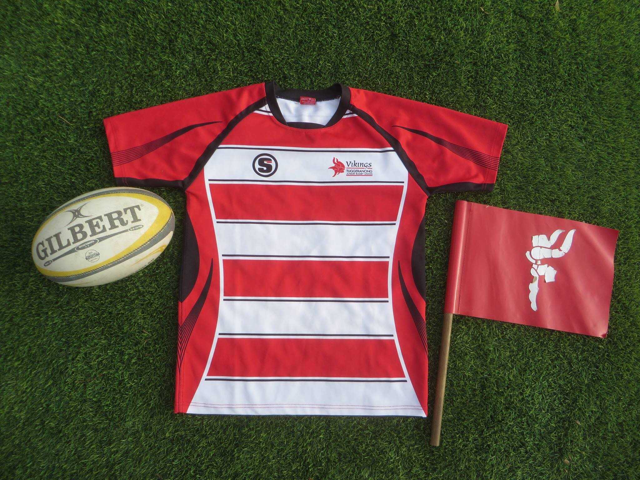 Vikings rugby jersey and ball